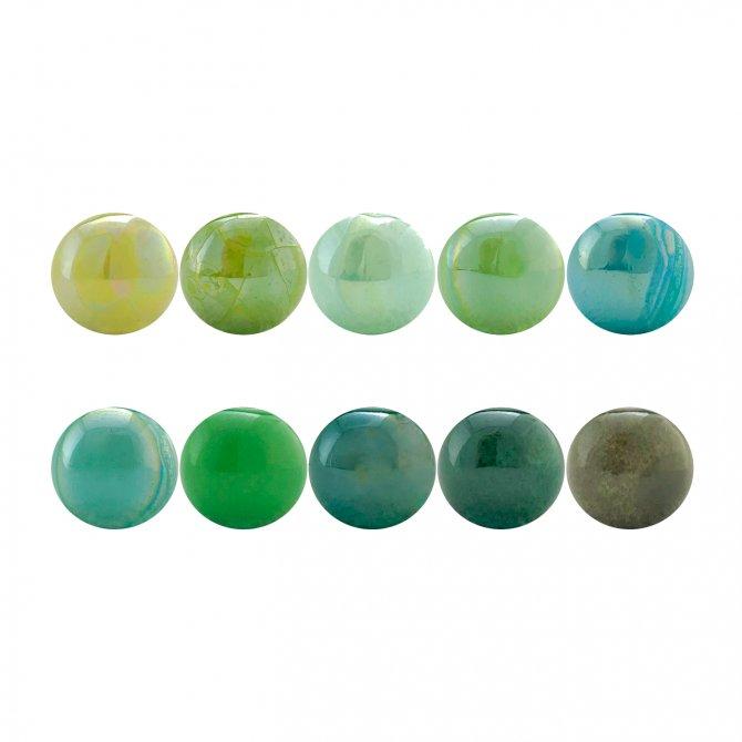 PACK 10 bolas standard verdes