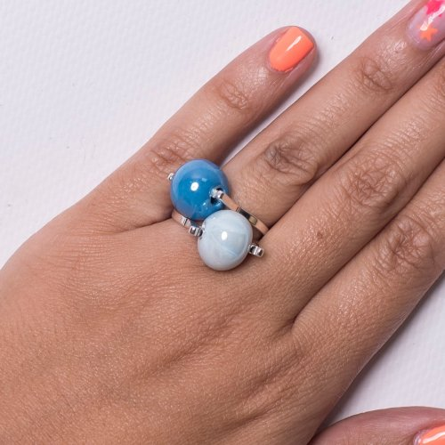 DOUBLE BALL INTERCHANGEABLE RING