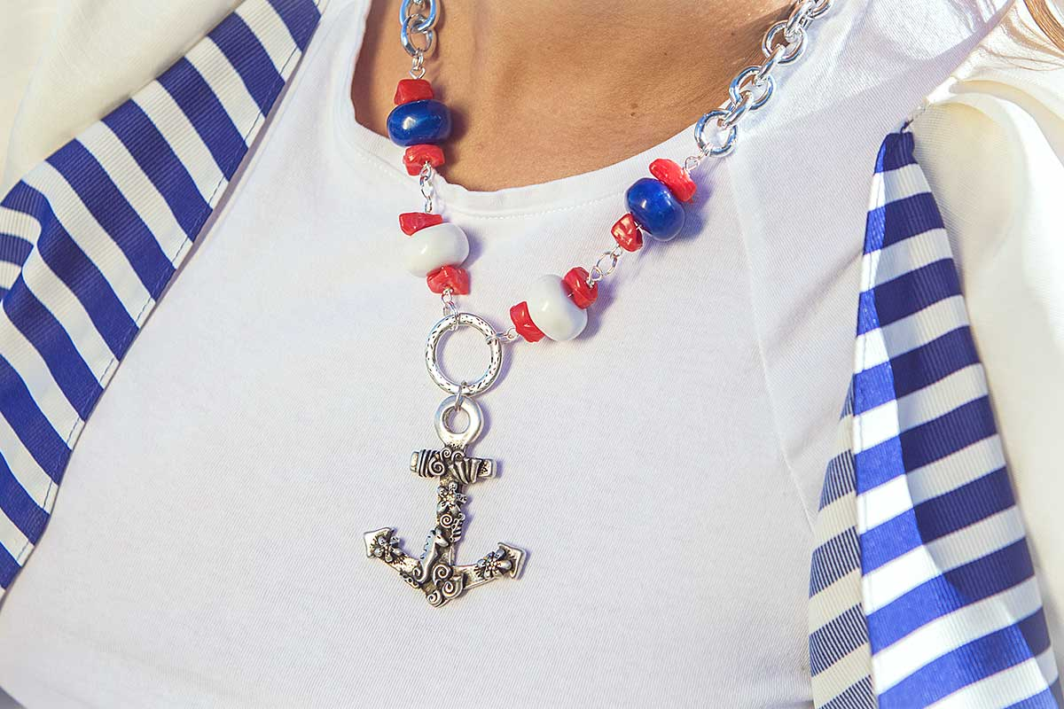 Collar personalizado Ancla, nueva creacion para el verano. En Anabi.es joyas de moda