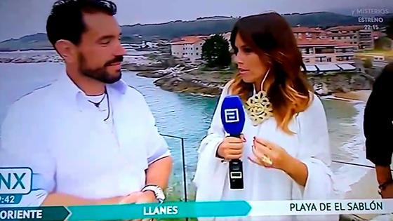 María Ruisánchez con collares ANABI en TV ASTURIAS